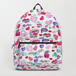 Lovely doodle drawing Valentine's Day gift Backpack