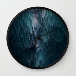Frost Glitches Wall Clock