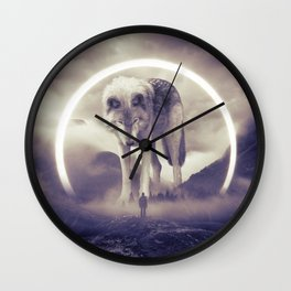 aegis II | wolf Wall Clock