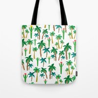 palm Tote Bags featuring palm by Ceren Aksu Dikenci