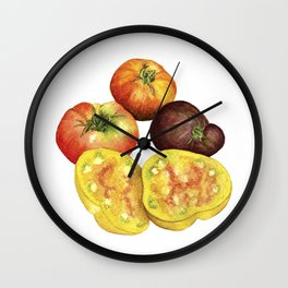 Heirloom Beefsteak Tomatoes Wall Clock
