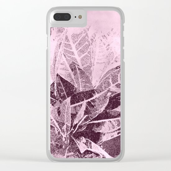 Foliage in Blush Pink Clear iPhone Case