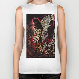 9255-KMA Abstract Fine Art Nude Woman in Red Biker Tank