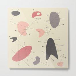 Pendan - Pink Metal Print