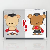 boxing iPad Cases featuring Boxing Bears by Yolanda Yvette