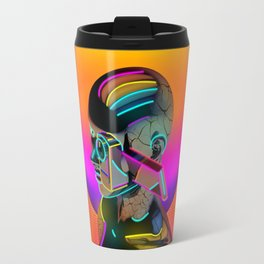 Android with a movie camera Travel Mug