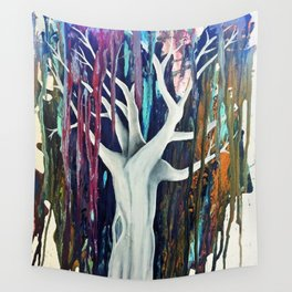 Tree of color Wall Tapestry