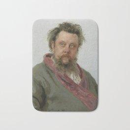 Modest Petrovich Mussorgsky (1839 – 1881) by Ilya Repin in 1881 Bath Mat