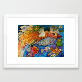 THE WEDDING AND THE BIRD Framed Art Print