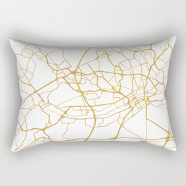 FRANKFURT GERMANY CITY STREET MAP ART Rectangular Pillow
