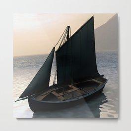Fishing Sailboat at Dawn by Marijan Zubak Metal Print