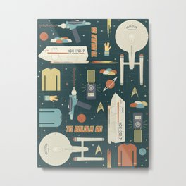 To Boldly Go... Metal Print