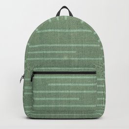 Geometric Art, Colorful Stripes Mudcloth, Prints Green Backpack