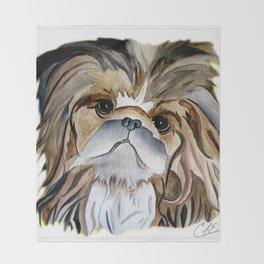 Pekingese Dog Love Dogs Throw Blanket