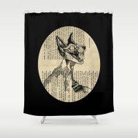 evil queen Shower Curtains featuring evil queen with texture by vasodelirium