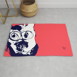How're you doin? coral/blue Rug