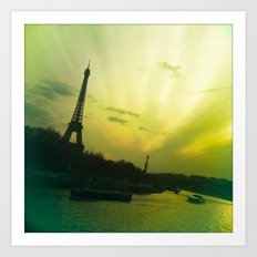 Eiffel By Bridge Art Print