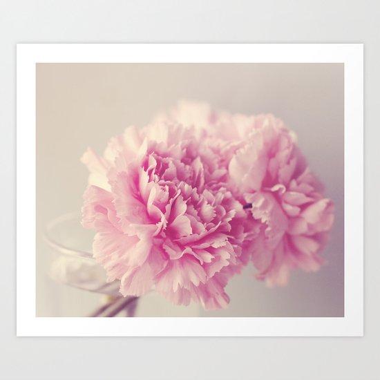 Dreamy Carnations  Art Print