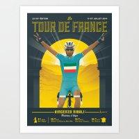 tour de france Art Prints featuring Tour de France 2014 by Matthew Fleming