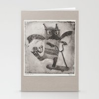 sport Stationery Cards featuring Sport cat by KRADA ZHAN ART