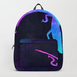 COCKROACH IN SPACE // Animal Graphic Art // Watercolor Canvas Painting // Modern Minimal Cute Backpack