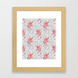 Flamingos and Polka Dots by Katrina Ward Framed Art Print