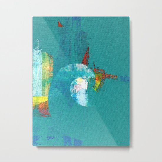 Tournament (knight turquoise) Metal Print