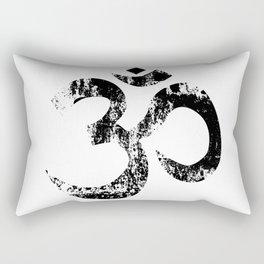 Om Rubber Stamp Rectangular Pillow
