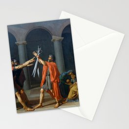Oath of the Horatii by Jacques-Louis David Stationery Cards