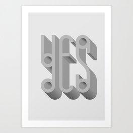 MYMU Yes Art Print