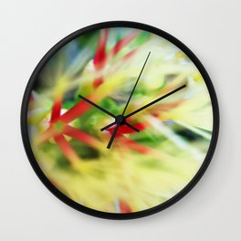 Floral beauty magnified - one Wall Clock