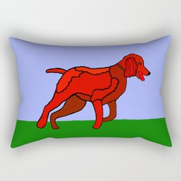 Romping Miniature Apricot Poodle Cartoon Rectangular Pillow