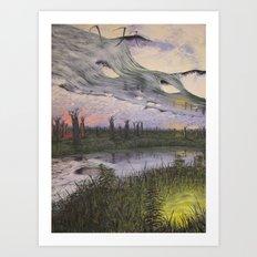 reversible landscape Art Print