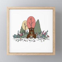 Bear and Taco Framed Mini Art Print