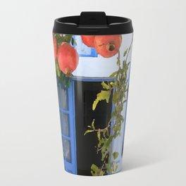 White and blue house Travel Mug