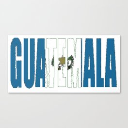 Guatemala Font with Guatemalan Flag Canvas Print