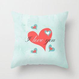 Saint Valentine's Day (I love you) Throw Pillow