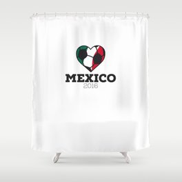 Mexico Soccer Shirt 2016 Shower Curtain