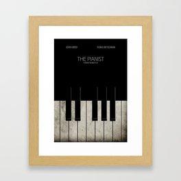 The Pianist - Minimal Framed Art Print