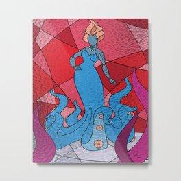 The Octo Mermaid (Azure) Metal Print