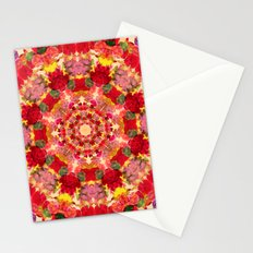 Vintage Flowers In The Round Stationery Cards