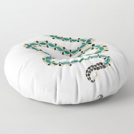 Emerald & Gold Serpent Floor Pillow