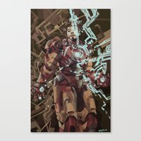 ironman Canvas Prints featuring Ironman by Beth Sparks
