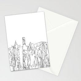 Aberdeen, Scotland Skyline B&W - Thin Line Stationery Cards
