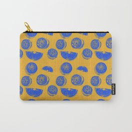 Blue Lemon Carry-All Pouch