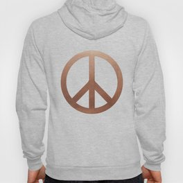 Copper Peace sign Hoody