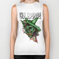 blood Biker Tanks featuring blood by KillGorgons