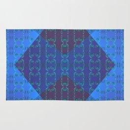 Light-blue-pattern Rug