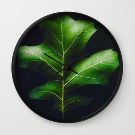 The Leaf (Color) Wall Clock