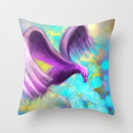 The color of flight Throw Pillow